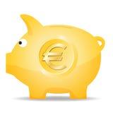 Банк евро Piggy иллюстрация штока