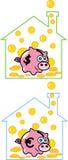 Банк денег свиньи Стоковые Изображения RF