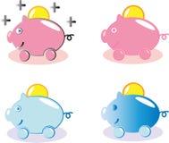 Банк денег свиньи Стоковое Изображение