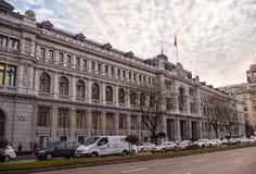 Банк здания Испании в Мадриде стоковое изображение rf