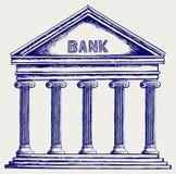 Банк. Колоннада иллюстрация штока