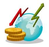 Банк, международная экономика и сбережения денег Стоковые Фотографии RF