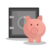 Банк, международная экономика и сбережения денег Стоковое Изображение