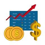 Банк, международная экономика и сбережения денег Стоковая Фотография