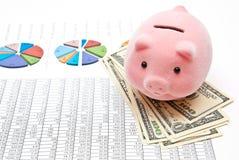 банк составляет схему piggy Стоковая Фотография RF