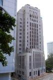 Банк стандартной хартии международный небоскреб горизонта финансового центра центра IFC сложный Гонконга Admirlty финансов центра Стоковое Фото