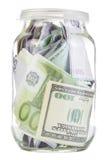 Банк с деньгами Стоковое фото RF