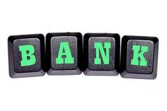 Банк слова на ваших клавишах на клавиатуре Стоковые Изображения RF