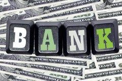 Банк слова на ваших клавишах на клавиатуре Стоковая Фотография