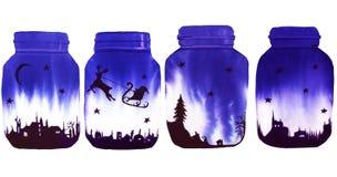 Банк с рассказом рождества изображение иллюстрации летания клюва декоративное своя бумажная акварель ласточки части изолировано Стоковые Изображения