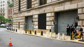 Банк Федеральной Резервной системы здания Нью-Йорка сток-видео