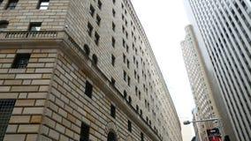 Банк Федеральной Резервной системы здания Нью-Йорка видеоматериал