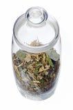 Банк чая трав Стоковое Фото