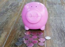 банк чеканит piggy пинк Стоковая Фотография RF