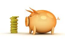 банк 3d piggy Стоковое фото RF