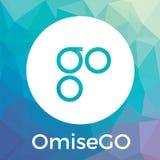 Банк blockchain OmiseGO OMG, римесса, и логотип вектора cryptocurrency обменом бесплатная иллюстрация