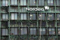 БАНК NORDEA Ветвь Vesterbro расположенная в Копенгаген стоковые изображения rf