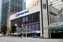 Банк RBC королевский, Ванкувер, ДО РОЖДЕСТВА ХРИСТОВА Стоковые Фото