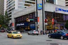 Банк RBC королевский, Ванкувер, ДО РОЖДЕСТВА ХРИСТОВА Стоковые Фотографии RF