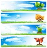 Баннеры Стоковое Изображение RF