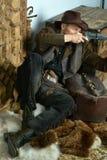 Бандит с оружием стоковая фотография