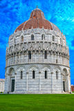 Баптистерий Пизы di San Giovanni Пизы St. John Battistero внутри, Тоскана, Италия Стоковая Фотография