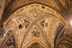 Баптистерий San Giovanni, Сиены, Тосканы, Италии Стоковое Изображение RF