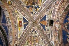 Баптистерий San Giovanni, Сиены, Тосканы, Италии Стоковые Изображения RF
