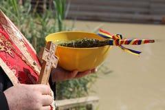 Баптист на реке Иордан Стоковые Изображения