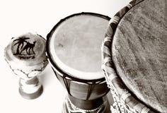 барабанит традиционным Стоковая Фотография