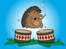 барабанит hedgehog Стоковая Фотография