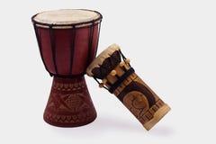 2 барабанчика сделанного в Кении вышесказанного Стоковая Фотография RF