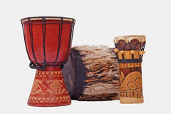 3 барабанчика сделанного в Кении вышесказанного Стоковые Изображения RF