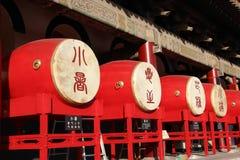 Барабанчики в башне барабанчика в Xian Стоковое Изображение