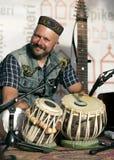 Барабанчики музыканта и tabla Стоковое Фото