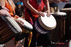 Барабанчики сыгранные женщинами Стоковое Изображение RF