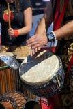 Барабанчики сыгранные женщинами Стоковые Фотографии RF
