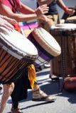 Барабанчики сыгранные женщинами Стоковое Фото
