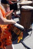 Барабанчики сыгранные женщинами Стоковая Фотография