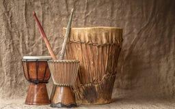 Барабанчики djembe дерева Стоковое Изображение RF