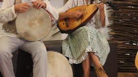 Барабанчик и мандолина Стоковые Фото