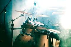 Барабанчик на этапе Стоковое фото RF