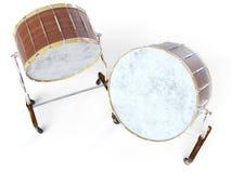 Барабанчик оркестра большой на белом переводе 3D Стоковое Изображение