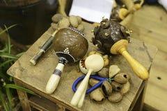 Барабанчик сделанный с раковиной кокоса Стоковая Фотография