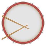 Барабанчик с drumsticks Стоковые Изображения
