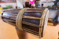 Барабанчик традиции Cham на Вьетнаме - Otc 08 2016 Стоковое Изображение