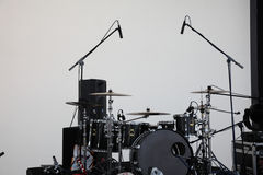 Барабанчик установленный с микрофоном Стоковые Фото