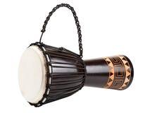 Изолированный барабанчик Djembe, Стоковые Изображения RF
