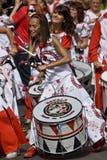 Барабанщики от Batala Banda de Percussao стоковые изображения