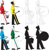 барабанщики бесплатная иллюстрация